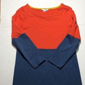 Boden Orange and Blue Colorblock Dress Size 6